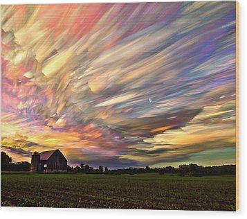 Sunset Spectrum Wood Print by Matt Molloy