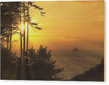 Sunset Thru The Trees Wood Print by Andrew Soundarajan