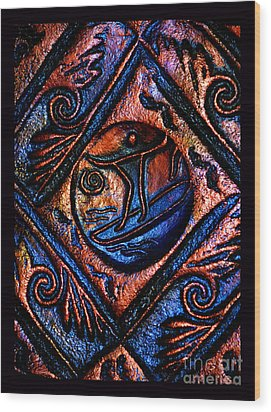 Surfing The High Seas Of Life Wood Print by Susanne Still