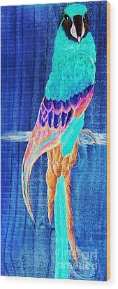 Surreal Parrot Wood Print by Eloise Schneider