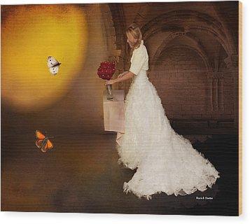 Surreal Wedding Wood Print by Angela A Stanton