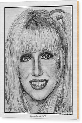 Suzanne Somers In 1977 Wood Print by J McCombie
