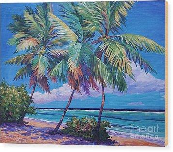 Swaying Palms  Wood Print by John Clark
