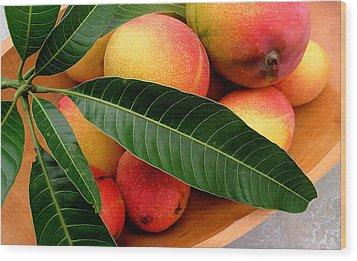 Sweet Molokai Mango Wood Print by James Temple