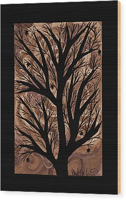 Swirling Sugar Maple Wood Print by Barbara St Jean