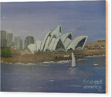 Sydney Opera House Wood Print by Pamela  Meredith