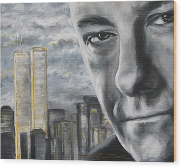 T And The Wtc Wood Print by Eric Dee