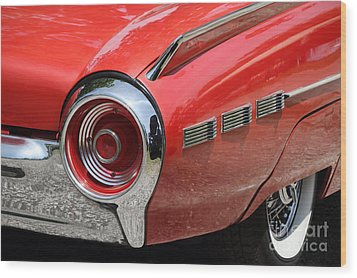 T-bird Tail Wood Print by Dennis Hedberg