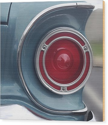 Tail Light Ford Falcon 1961 Wood Print by Don Spenner