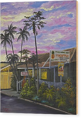 Take Home Maui Wood Print by Darice Machel McGuire