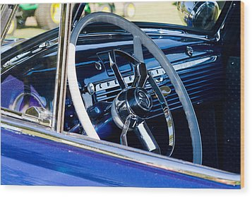 Take The Wheel Wood Print by Bernard  Barcos