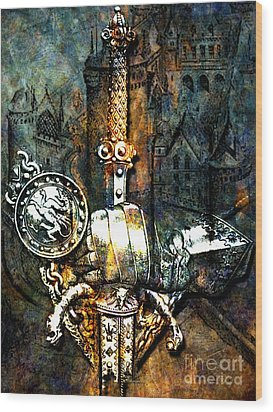 Tales Of Chivalry Wood Print by Tammera Malicki-Wong