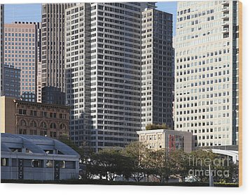 Tall Buildings Of San Francisco - 5d20505 Wood Print by Wingsdomain Art and Photography