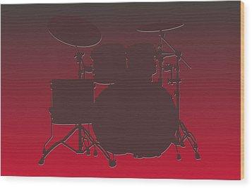 Tampa Bay Buccaneers Drum Set Wood Print by Joe Hamilton