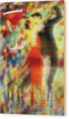 Tango As The Sunset Wood Print by Kenal Louis