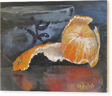 Tangy Tangerine Wood Print by MaryAnne Ardito