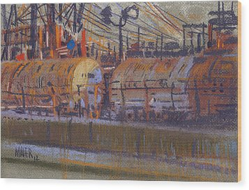 Tanker Fill Point Wood Print by Donald Maier