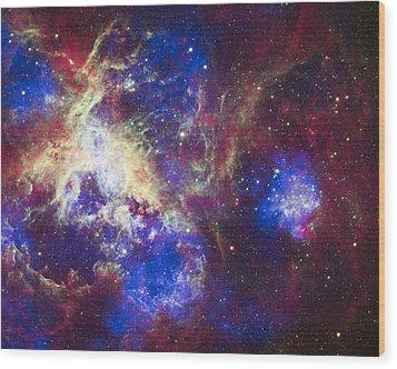 Tarantula Nebula Wood Print by Adam Romanowicz