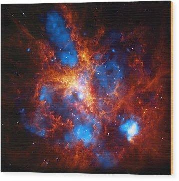 Tarantula Nebula Wood Print by Jennifer Rondinelli Reilly - Fine Art Photography
