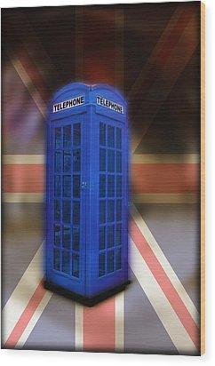 Tardis Wood Print by Bill Cannon