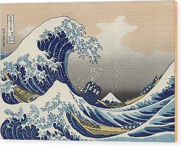 Tardis V Katsushika Hokusai Wood Print by GP Abrajano