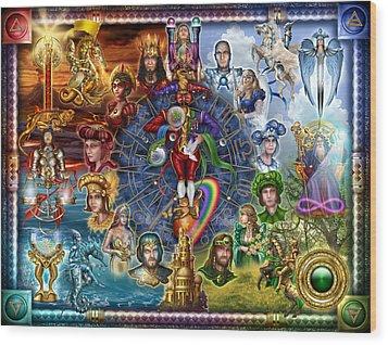 Tarot Of Dreams Wood Print by Ciro Marchetti