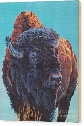 TED Wood Print by Patricia A Griffin