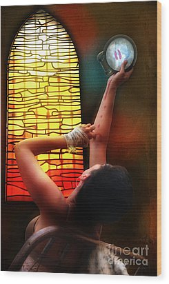 Tell Me Little Mirror Is That My Soul Wood Print by Rosa Cobos