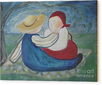 Tenderness Wood Print by Teresa Hutto