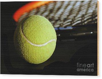 Tennis Equipment Wood Print by Michal Bednarek