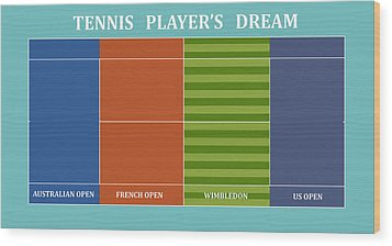 Tennis Player-s Dream Wood Print by Carlos Vieira