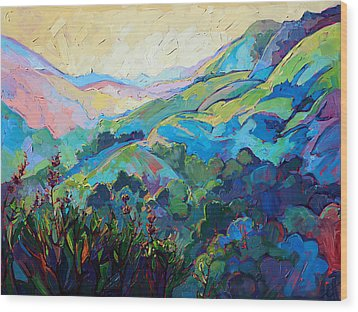 Textured Light Wood Print by Erin Hanson