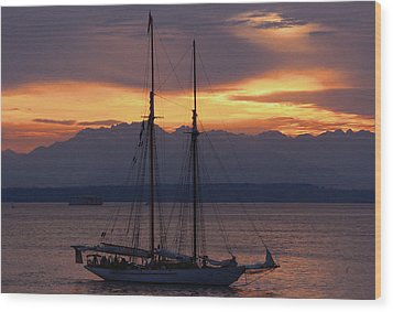 The Adventuress Cruise Wood Print by Kym Backland