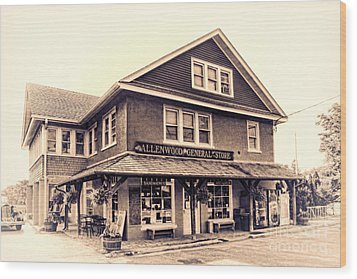 The Allenwood General Store Wood Print by Olivier Le Queinec