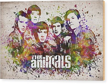 The Animals In Color Wood Print by Aged Pixel