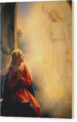 The Annunciation Wood Print by Carl Bloch