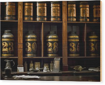 The Apothecary Wood Print by Heather Applegate