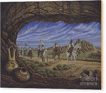 The Arrival Wood Print by Ricardo Chavez-Mendez