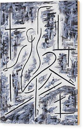 The Ballet Rehearsal Wood Print by Kamil Swiatek