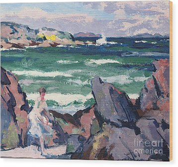 The Bather Wood Print by Francis Campbell Boileau Cadell