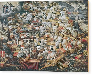 The Battle Of Lepanto, 7th October Wood Print by Everett