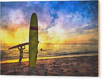 The Beach Boys Wood Print by Debra and Dave Vanderlaan