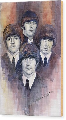 The Beatles 02 Wood Print by Yuriy  Shevchuk