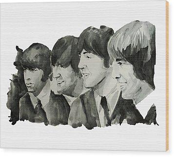The Beatles 2 Wood Print by Bekim Art