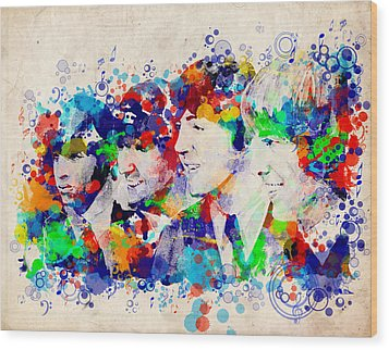 The Beatles 7 Wood Print by Bekim Art