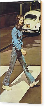 The Beatles Abbey Road Artwork Part 1 Of 4 Wood Print by Sheraz A