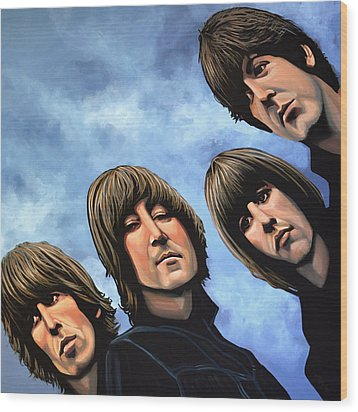 The Beatles Rubber Soul Wood Print by Paul Meijering