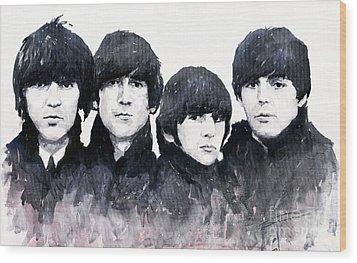 The Beatles Wood Print by Yuriy  Shevchuk