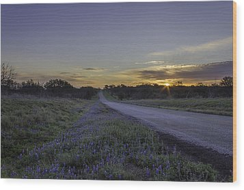 The Beautiful Road At Sunrise Wood Print by Jeffrey W Spencer