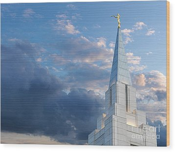 The Beautiful Vancouver Lds Temple. Wood Print by Laurent Lucuix